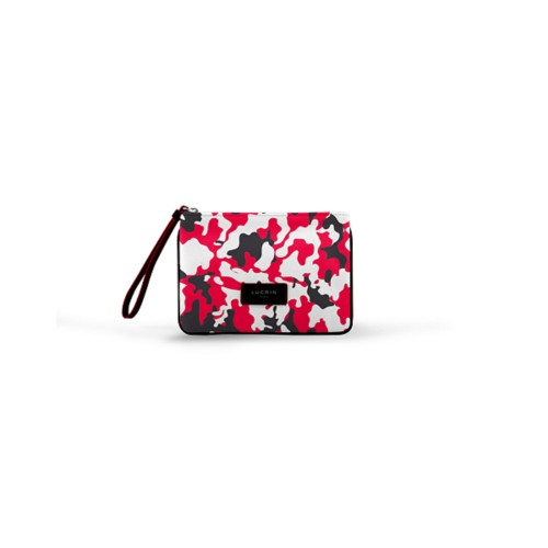 Evening Clutch Canvas Bag - S - Red-Black - Camouflage