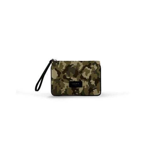 Evening Clutch Canvas Bag - S - Dark Green-Black - Camouflage