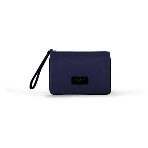 Evening Clutch Canvas Bag - M - Navy Blue-Black - Canvas