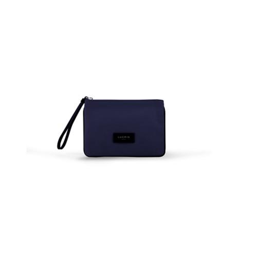 Evening Clutch Canvas Bag - S - Navy Blue-Black - Canvas