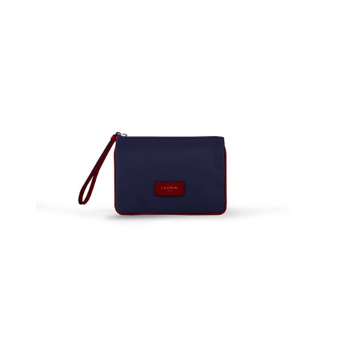 Evening Clutch Canvas Bag - S - Navy Blue-Red - Canvas