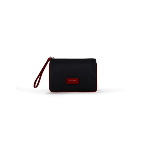 Evening Clutch Canvas Bag - S - Black-Red - Canvas