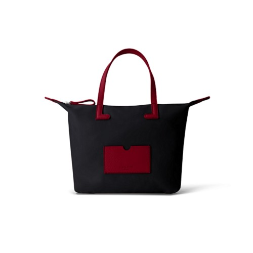 Small handbag - Burgundy-Black - Canvas