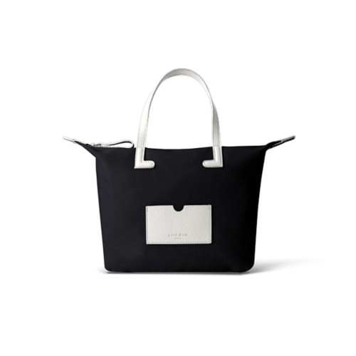 Small handbag - White-Black - Canvas