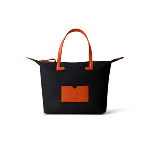 Small handbag - Orange-Black - Canvas