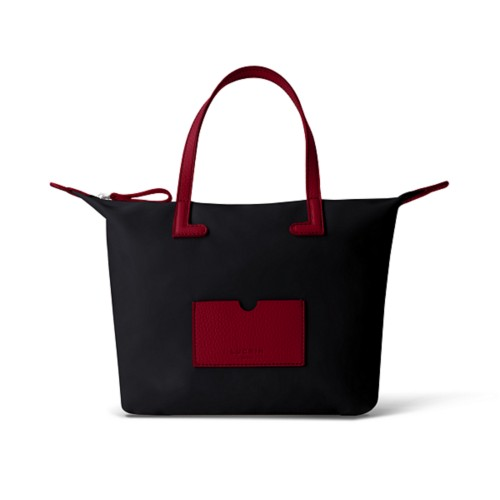 Medium handbag - Burgundy-Black - Canvas