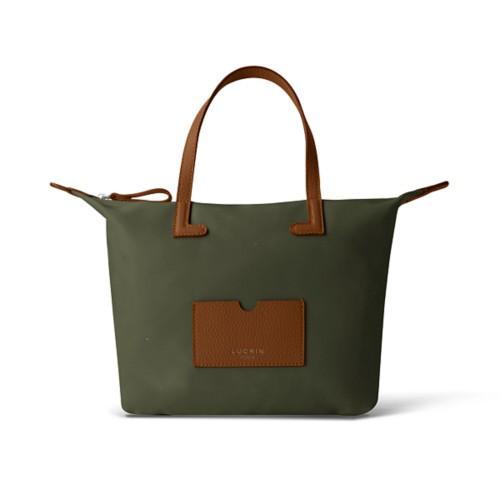 Medium handbag - Tan-Khaki - High-end nylon