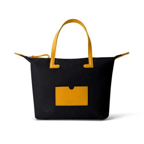 ミディアムハンドバッグ - Sun Yellow-Black - High-end nylon