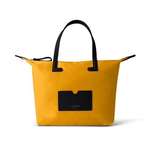 Medium handbag - Black-Sun Yellow - High-end nylon