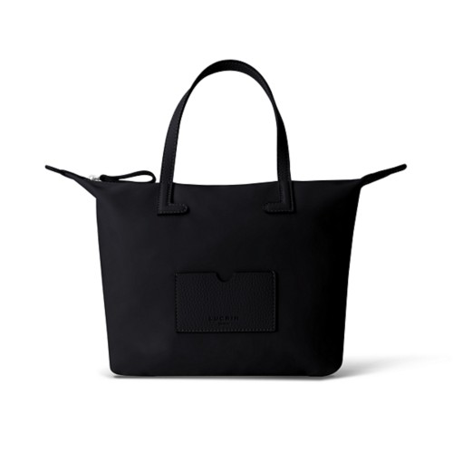 Medium handbag - Black-Black - Canvas