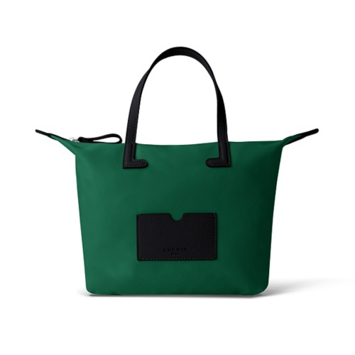 Medium handbag - Black-Dark Green - High-end nylon