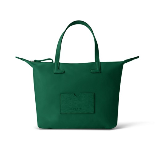 Medium handbag - Dark Green-Dark Green - High-end nylon