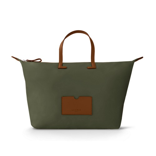Large handbag - Tan-Khaki - High-end nylon