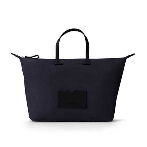Große Handtasche - Schwarz-Königsblau - Canvas