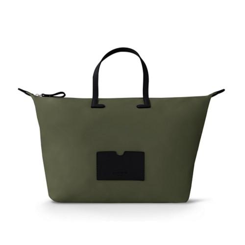 Große Handtasche - Schwarz-Khaki - Canvas