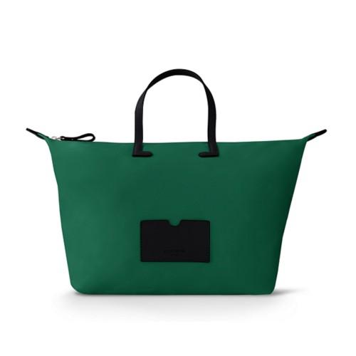 Große Handtasche - Schwarz-Dunkelgrün - Canvas