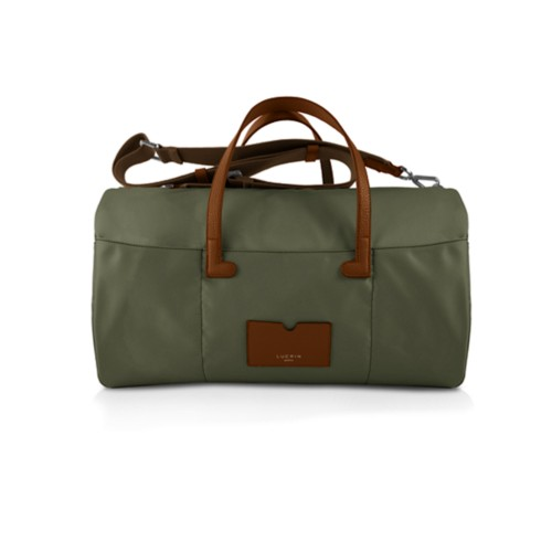Nylon Leather Duffle Bag - Tan-Khaki - High end nylon