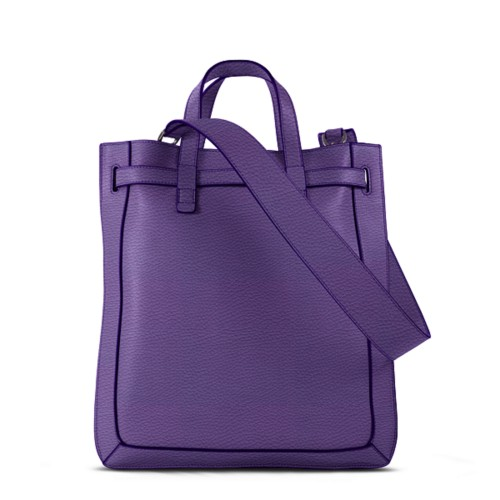 L25 Tote Bag - Lavender - Granulated Leather