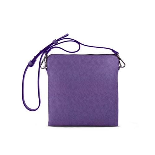 L25 Kuriertasche - Lavendel - Genarbtes Leder