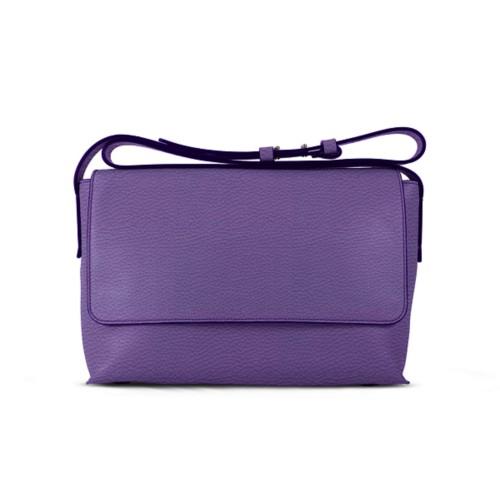 L25 Tasche mit Klappverschluss - Lavendel - Genarbtes Leder