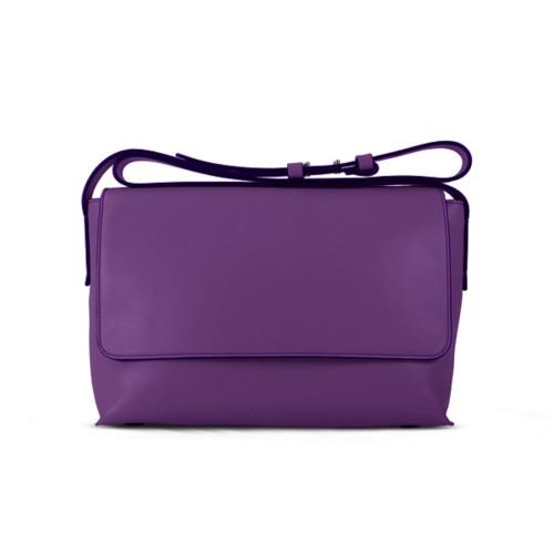 L25 Tasche mit Klappverschluss - Lavendel - Glattleder