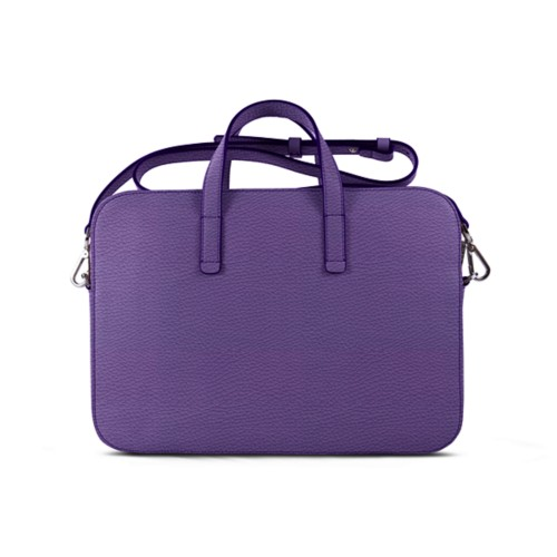 Laptop Bag L25 - Lavender - Granulated Leather