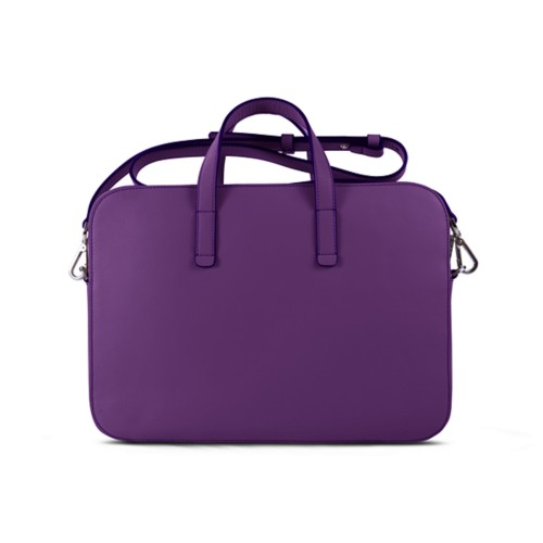 Laptop Bag L25 - Lavender - Smooth Leather