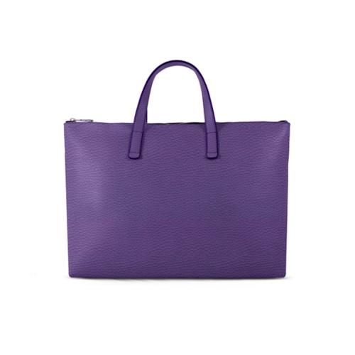 L25 Handtasche - Lavendel - Genarbtes Leder
