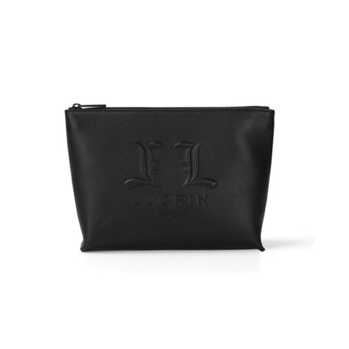 Toiletry Bag L25 - Limited Edition (26 x 17 x 9 cm) - Black - Premium Calfskin