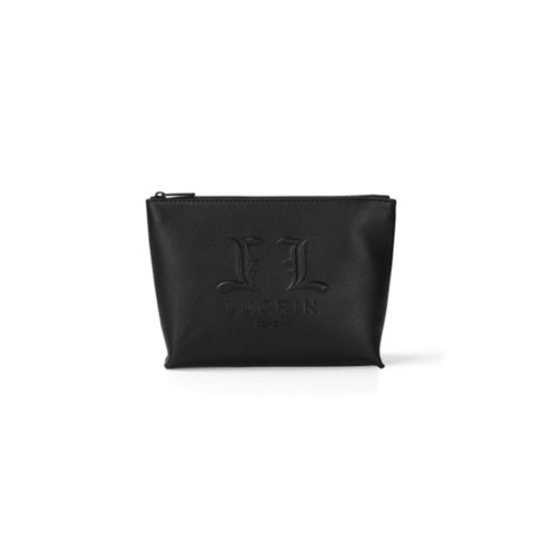 Makeup Bag L25 - Limited Edition (8.7 x 5.5 x 2.8 inches) - Black - Premium Calfskin
