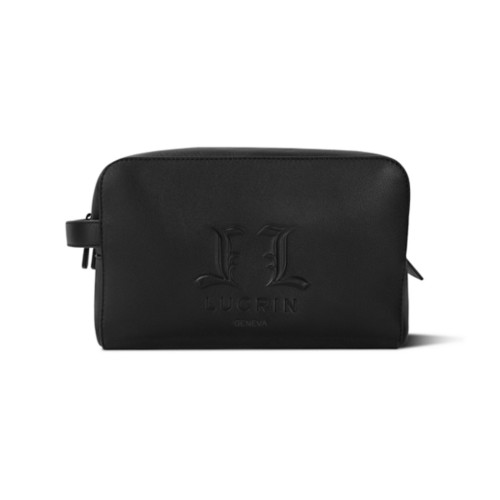 Travel Toiletry Bag L25 (10.6 x 6.3 x 5.9 inches) - Limited Edition - Black - Premium Calfskin