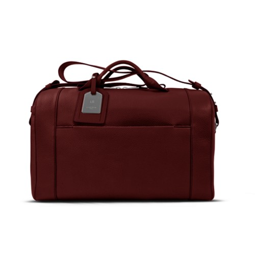 Holdall - Burgundy - Granulated Leather
