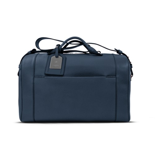 Holdall - Navy Blue - Granulated Leather