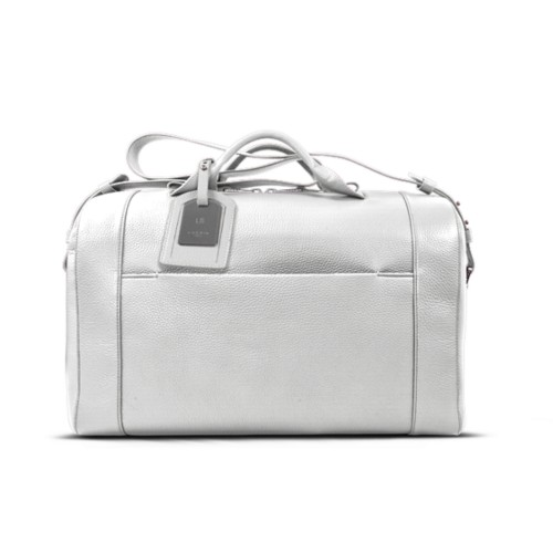 Holdall - White - Granulated Leather