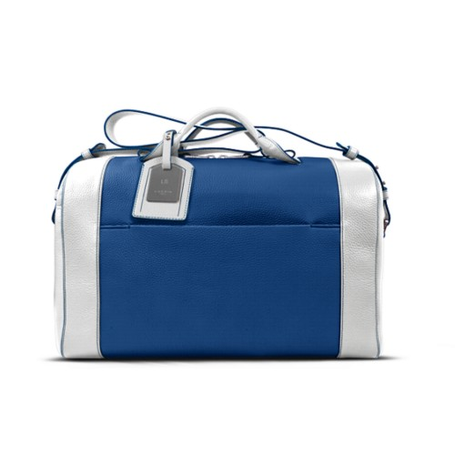 Holdall - Royal Blue-White - Granulated Leather