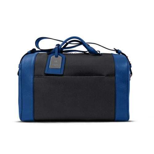 Holdall - Black-Royal Blue - Granulated Leather