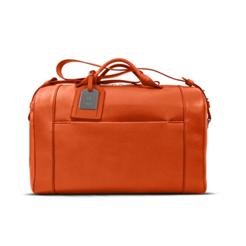 Holdall - Orange - Granulated Leather