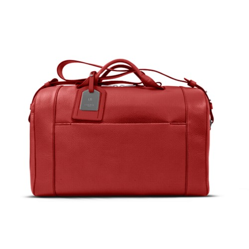 Holdall - Red - Granulated Leather