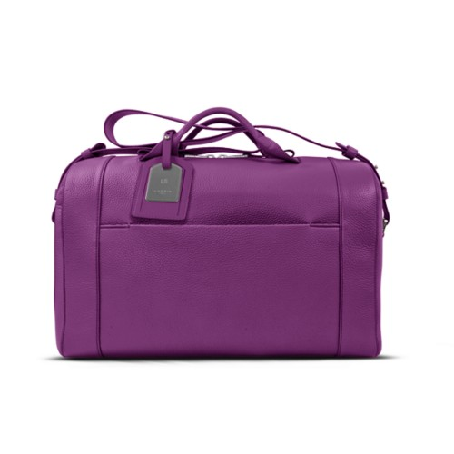 Holdall - Purple - Granulated Leather
