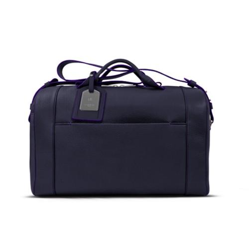 Holdall - Purple - Granulated Leather