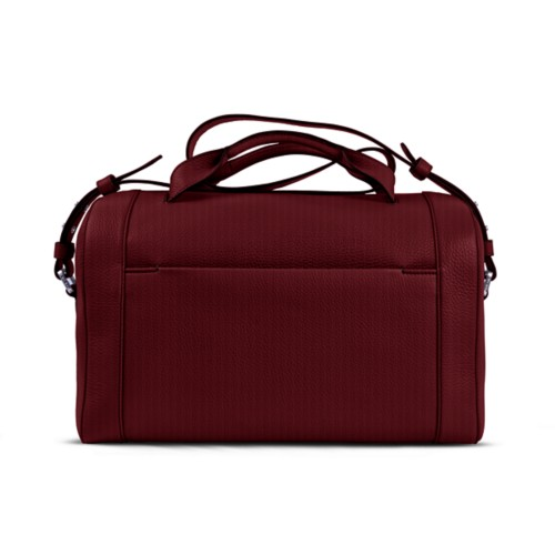 Weekender - Burgundy - Granulated Leather