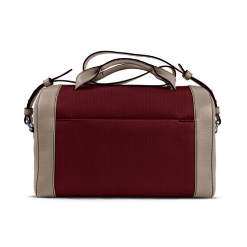 Weekender - Burgundy-Mink - Granulated Leather