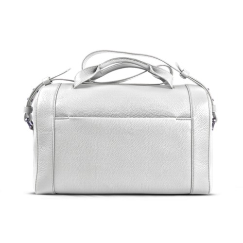 Weekender - White - Granulated Leather