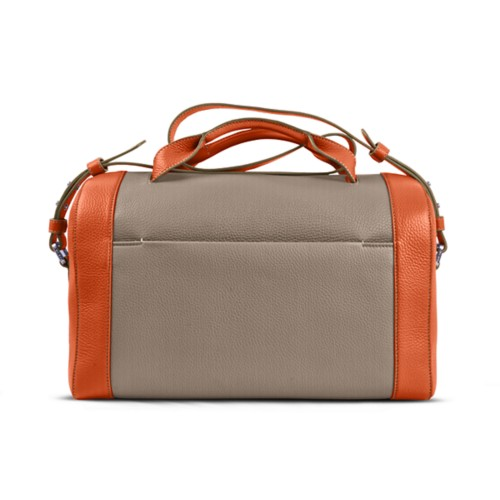 Weekender - Mink-Orange - Granulated Leather