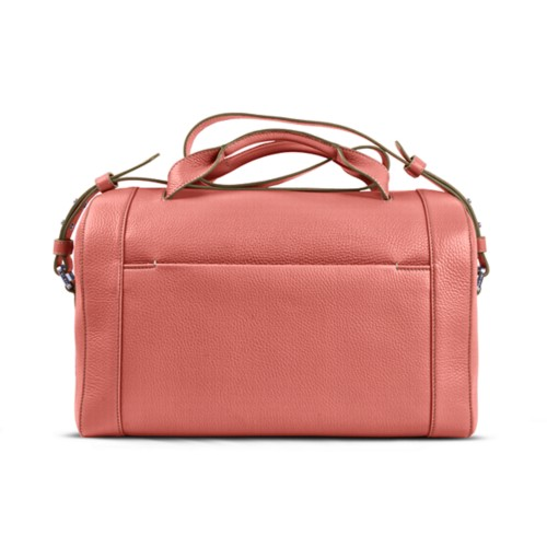 Weekender - Coral - Granulated Leather