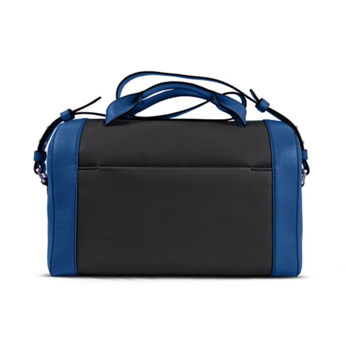 Weekender - Black-Royal Blue - Granulated Leather