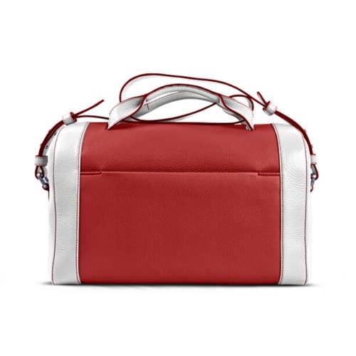 Weekender - Red-White - Granulated Leather