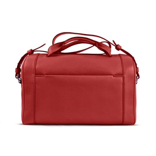 Weekender - Red - Granulated Leather