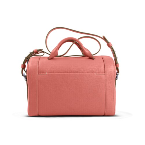 Handbag - Coral - Granulated Leather