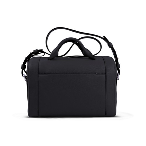 Handbag - Black - Granulated Leather